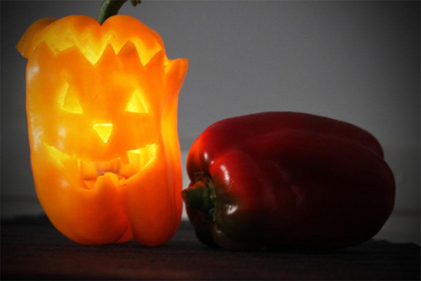 tutorial peperoni intagliati halloween