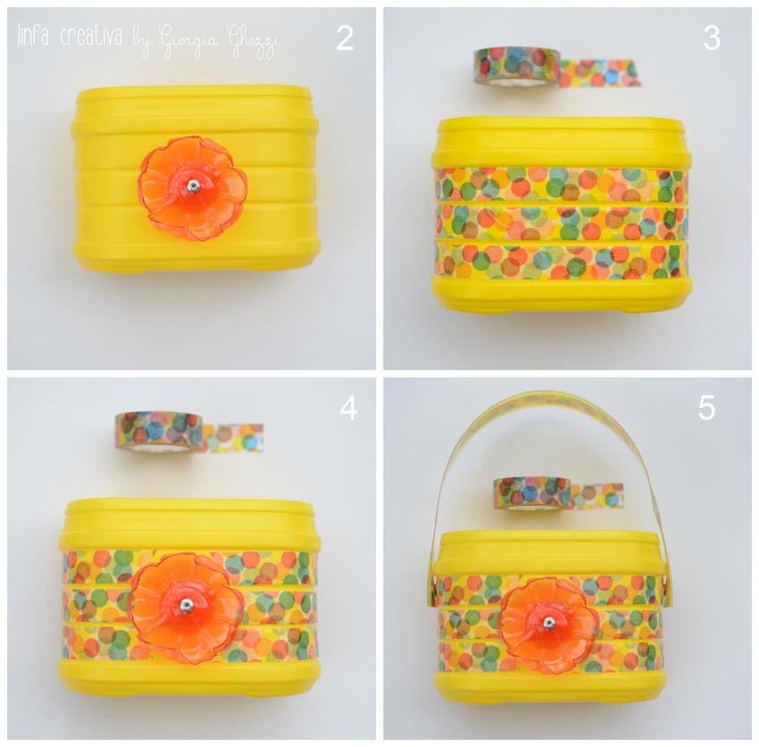 Tutorial borsa contenitore con materiali di riciclo_4