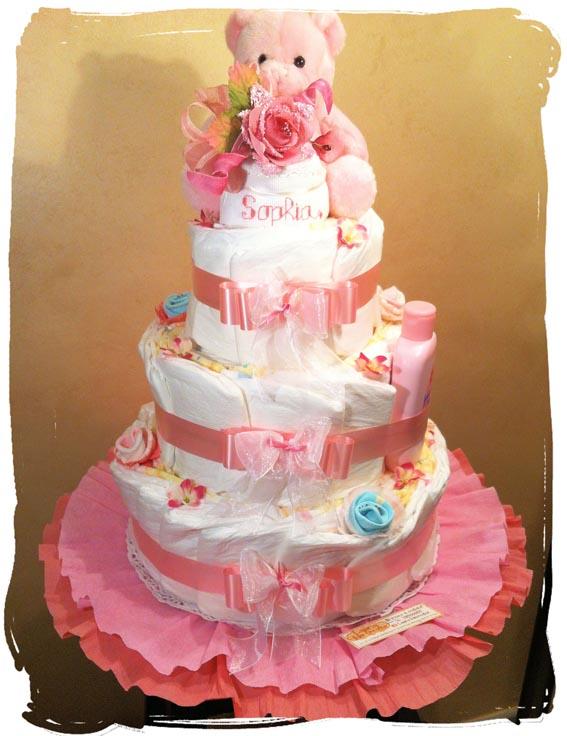 Laura Idee Creative - torta di pannolini