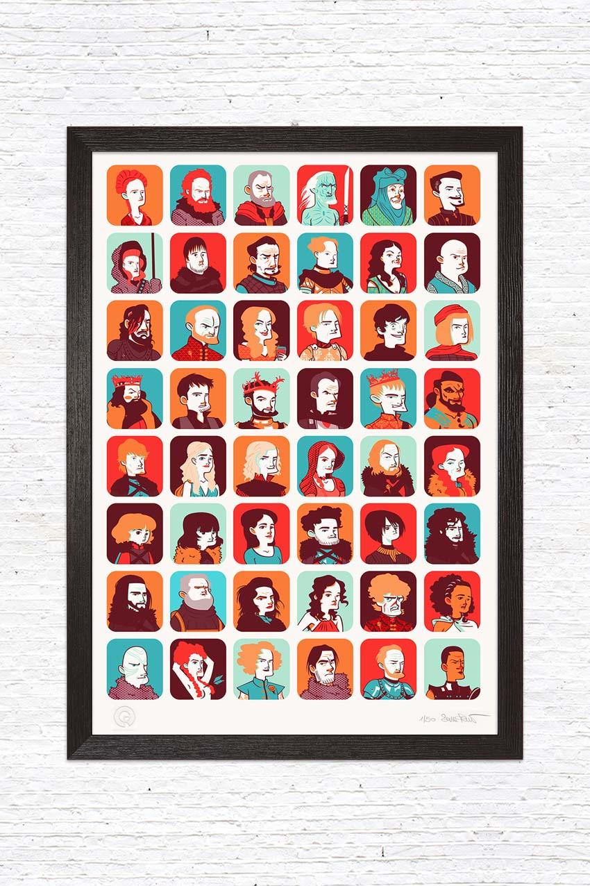 Gusto Robusto - stampa Games of Thrones Tribute - Sara Penco