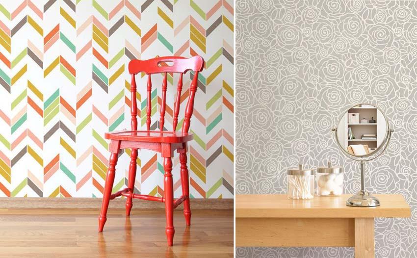 Artisign ideas 8 modi per decorare le vostre pareti - Stencil per parete ...