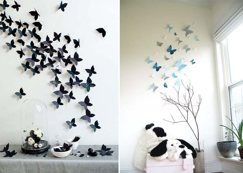 Artisign ideas 8 modi per decorare le vostre pareti - Farfalle decorative per pareti ...
