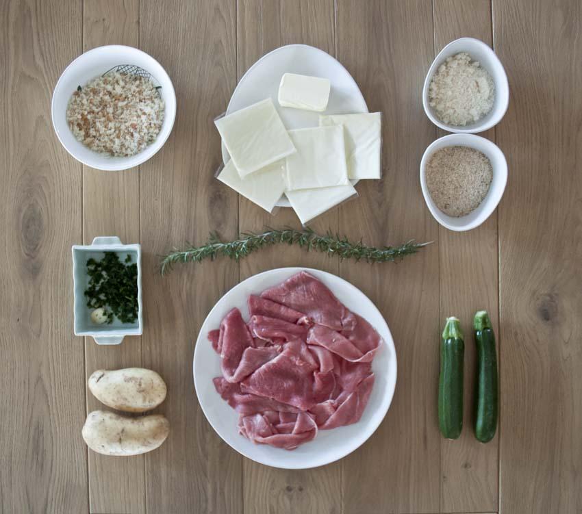 Bracioline (involtini) alla messinese con patate scenografiche