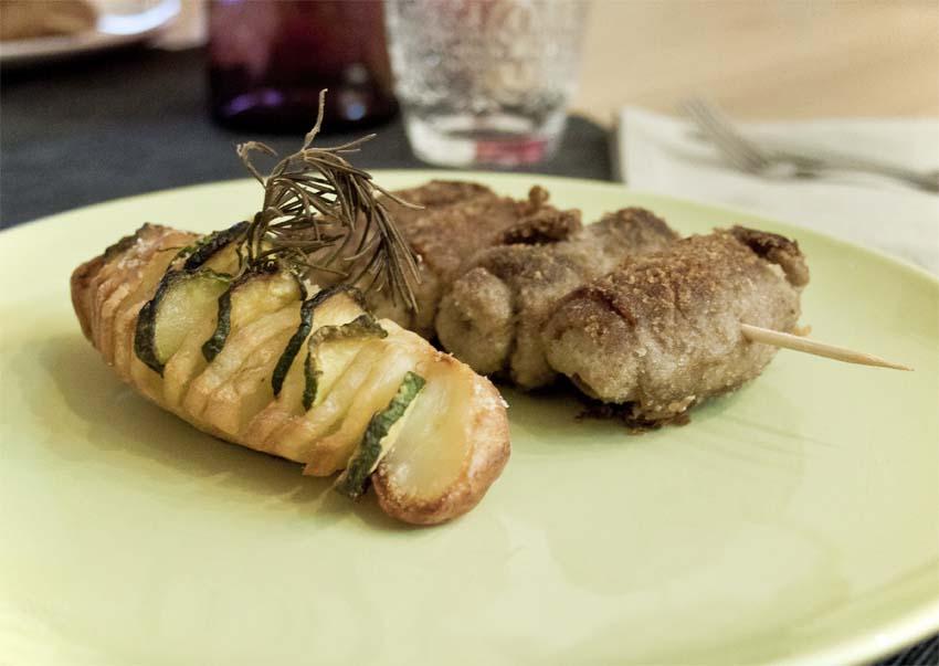 Ricetta bracioline (involtini) alla messinese con patate scenografiche