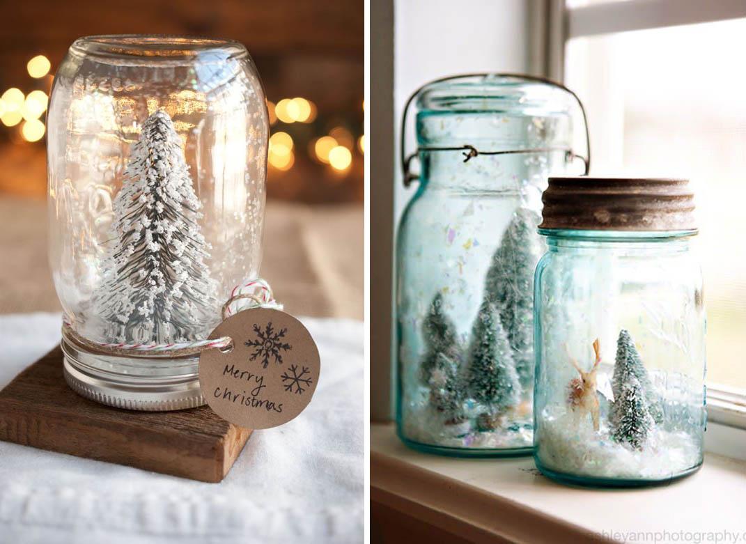 Trasformare i barattoli in decorazioni natalizie - Decorazioni per natale fai da te ...