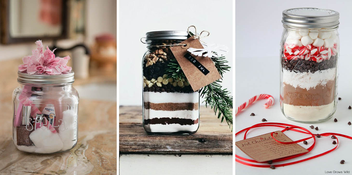 Decorazioni di natale con barattoli di vetro idee per il - Decorazioni natalizie legno fai da te ...