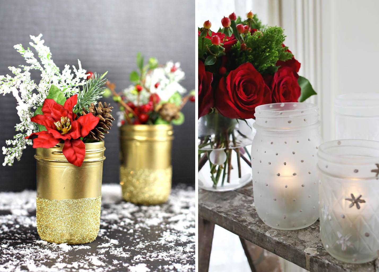 Trasformare i barattoli in decorazioni natalizie for Decorazioni da tavolo natalizie
