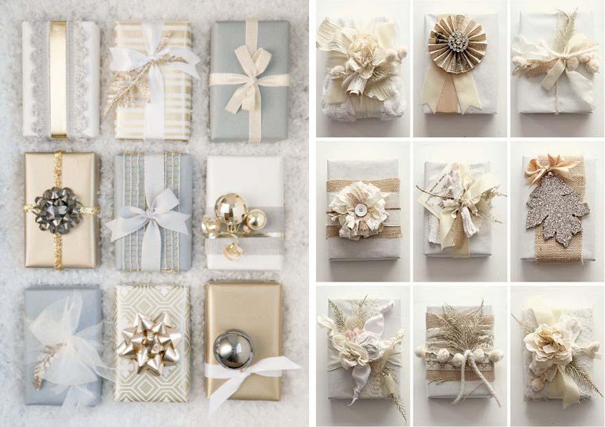 Basta aggiungere dei piccoli dettagli per dare ai vostri pacchi regalo ...