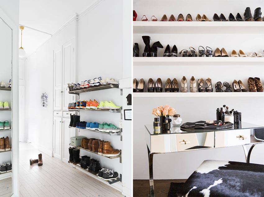 5 idee arredo per scarpe sempre in ordine for Scarpiera arredo